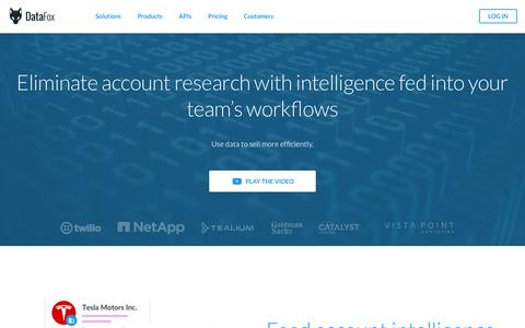 DataFox for Eliminate Account Research
