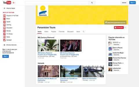Screenshot of YouTube Page youtube.com - Panavision Tours  - YouTube - captured Oct. 22, 2014