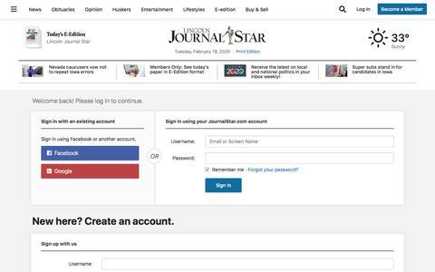 Screenshot of Support Page journalstar.com - Users | journalstar.com - captured Feb. 18, 2020