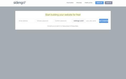 Screenshot of Signup Page sidengo.com - Sign Up - Sidengo - captured Nov. 21, 2015