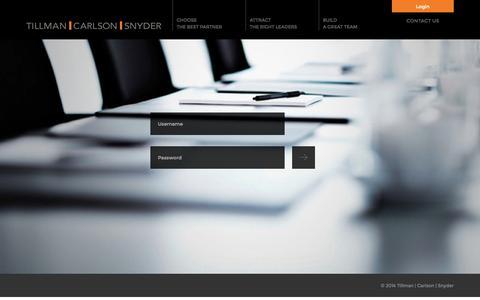 Screenshot of Login Page tcssearch.com - Tillman | Carlson | Snyder - captured Oct. 7, 2014