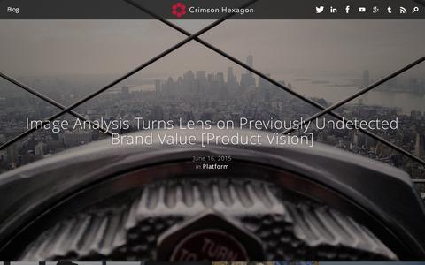 Screenshot of Blog crimsonhexagon.com - Blog | Crimson Hexagon - captured June 16, 2015