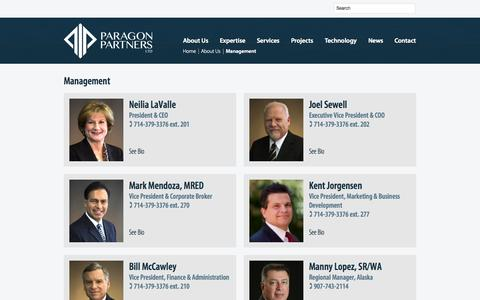 Screenshot of Team Page paragon-partners.com - Management  |  Paragon Partners Ltd – A leading Right of Way & Real Estate Consultant - captured Sept. 27, 2014