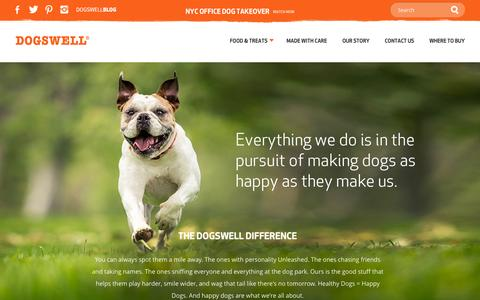 Screenshot of About Page dogswell.com - Dogswell | Our Story - captured Sept. 24, 2014