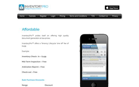 Screenshot of Pricing Page inventory-pro.co.uk - Inventory Pro - Mobile Inventory App for iPhone - PDF Report - captured Jan. 22, 2017
