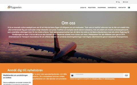 Screenshot of About Page flygpoolen.se - Om oss - captured Dec. 19, 2018