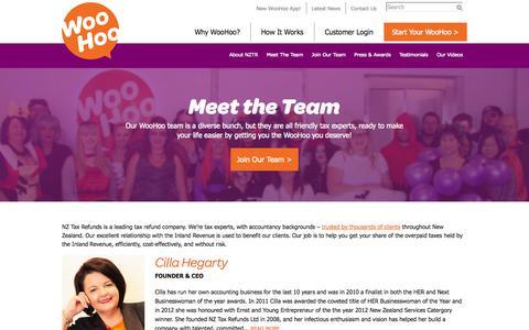 Screenshot of Team Page nztaxrefunds.co.nz - Meet The Team | NZ Tax Refunds - captured Oct. 6, 2014