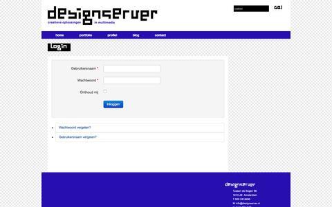 Screenshot of Login Page designserver.nl - Login - Designserver - captured March 13, 2018