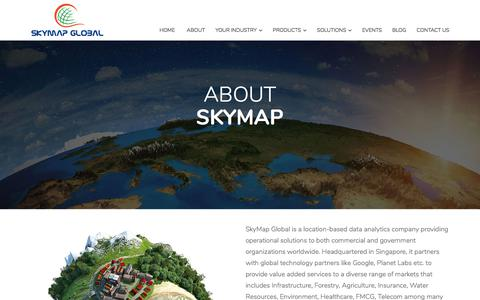 Screenshot of About Page skymapglobal.com - About - captured June 14, 2017