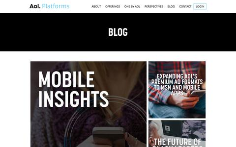 Blog | AOL Platforms