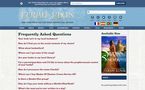 Screenshot of FAQ Page terahedun.com - FAQs Archive   Terah Edun - captured July 22, 2016