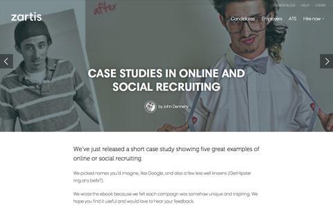 Screenshot of Case Studies Page zartis.com - Case studies in online and social recruiting – Zartis - captured Sept. 17, 2014