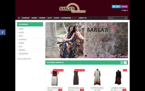 Screenshot of Home Page sarlatoshniwal.com - Buy Products Online|Shopping make easy at Vividhta.com - Vividhta.Com Online Shopping|Buy Online - captured Sept. 4, 2015