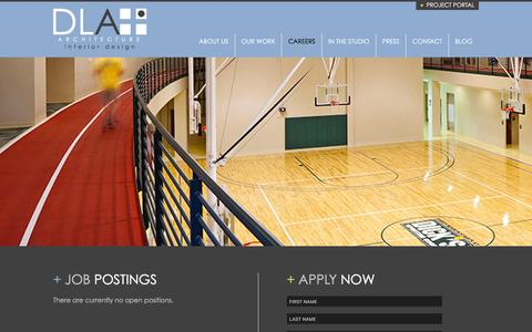Screenshot of Jobs Page dlaplus.com - Careers   DLA+ Architecture & Interior Design - captured Jan. 2, 2016