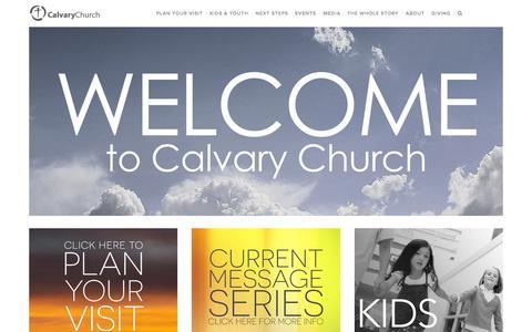 Screenshot of Home Page calvaryonline.cc - Calvary Church - captured Sept. 30, 2015