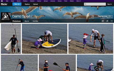 Screenshot of Flickr Page flickr.com - Flickr: Demo Sport's Photostream - captured Oct. 23, 2014