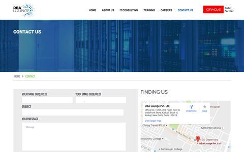 Screenshot of Contact Page dbalounge.com - DBA Lounge | Contact - captured Nov. 23, 2016