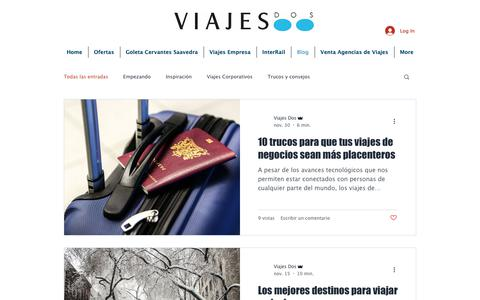 Screenshot of Blog viajesdos.com - viajesdos | Blog - captured Dec. 10, 2018