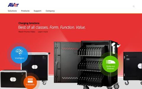Screenshot of Home Page averusa.com - AVer USA - captured Sept. 30, 2015