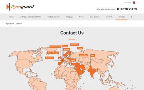 Screenshot of Contact Page pyroguard.eu - Contact | Pyroguard - captured Sept. 25, 2018