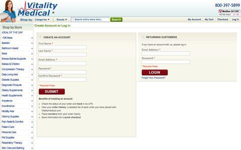 Create New Customer Account