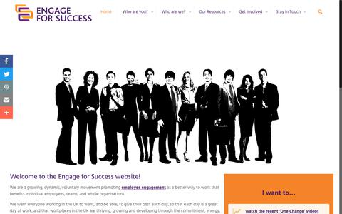 Screenshot of Home Page engageforsuccess.org - Home - Engage for SuccessEngage for Success - captured Nov. 10, 2018