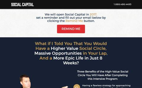Screenshot of Products Page theartofcharm.com - The Social Capital Networking Intensive Program - captured March 9, 2017