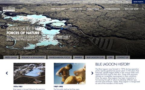 Screenshot of About Page bluelagoon.com - About Blue Lagoon | Blue Lagoon Iceland - captured Sept. 24, 2014