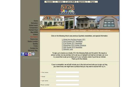 Screenshot of Signup Page mgmindustries.com - Contact Us at MGM Industries, Inc. of Tennessee | Ordering Windows and Doors - captured Sept. 30, 2014