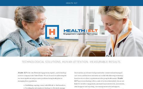 Screenshot of Home Page healthelt.com - Health: ELT - captured July 11, 2014