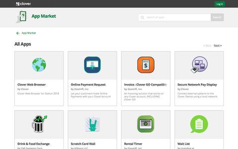 All Apps   Clover App Market   www.clover.com