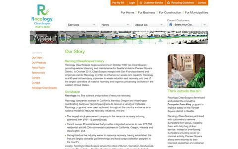 Screenshot of About Page cleanscapes.com - CleanScapes |        Our Story - captured Sept. 13, 2014