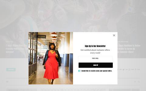 Screenshot of Home Page thecurvyfashionista.com - Home | The Curvy Fashionista - captured June 21, 2019