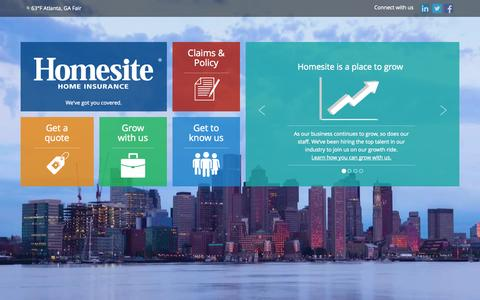 Screenshot of Contact Page homesite.com - Homesite.com - captured Sept. 23, 2014