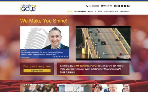 Screenshot of Site Map Page speakersgold.com - Home | Speakers Gold - captured Dec. 6, 2016