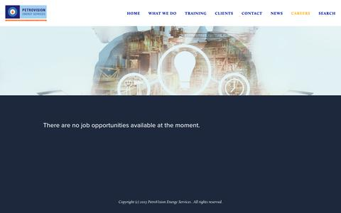 Screenshot of Jobs Page petro-vision.com - Careers — PetroVision - captured Sept. 27, 2018