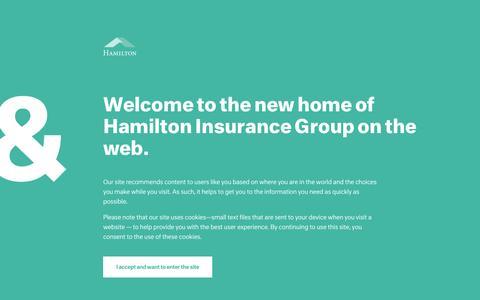 Screenshot of Contact Page hamiltongroup.com - Contact Us – Hamilton Group - captured July 3, 2016