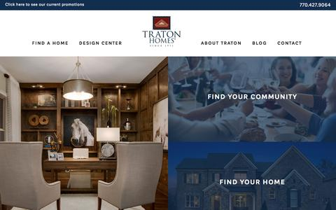 Screenshot of Home Page tratonhomes.com - Traton Homes - Building New Homes with More since 1971 - captured April 24, 2018