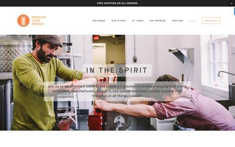 Screenshot of Blog americanjuicecompany.com - IN THE SPIRIT — AMERICAN JUICE COMPANY - captured May 30, 2017
