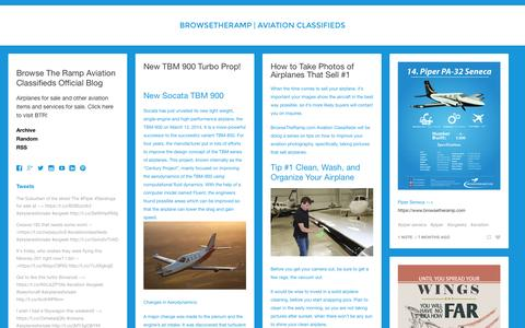 Screenshot of Blog browsetheramp.com - BrowseTheRamp | Aviation Classifieds - captured Sept. 30, 2014