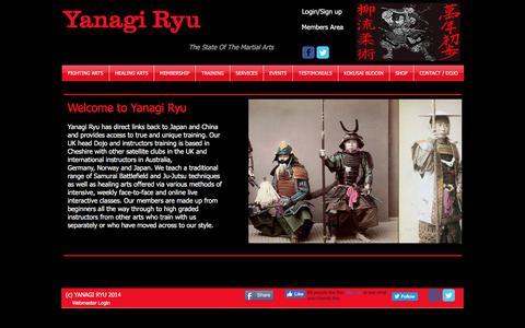 Screenshot of Home Page yanagiryu.co.uk - Yanagi Ryu Ju-Jutsu Home Page - captured Oct. 4, 2017