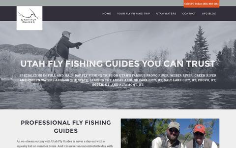 Screenshot of Home Page utflyfishing.com - Most Trusted Utah Fly Fishing Guides - Utah Fly Guides - captured Dec. 2, 2016