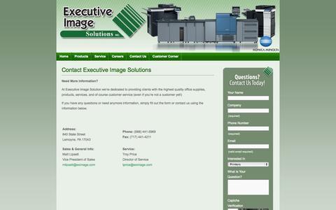 Screenshot of Contact Page eximage.com - Contact Executive Image Solutions   Executive Image Solutions, Inc. - captured Oct. 3, 2014