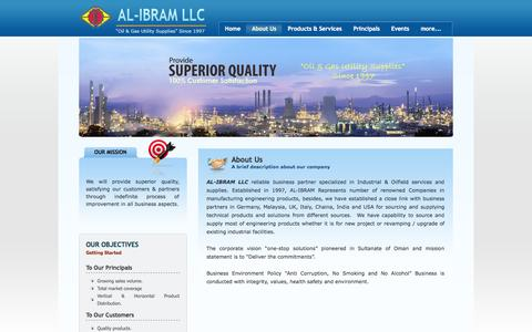 Screenshot of About Page ibramoman.com - About Us - Al Ibram LLC - captured Oct. 4, 2014