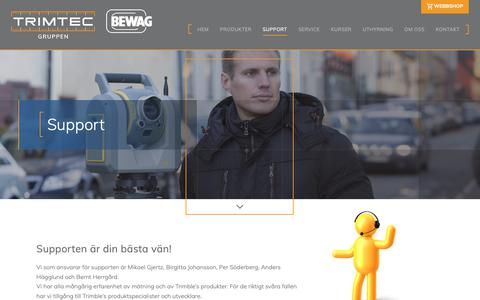 Screenshot of Support Page trimtec.se - Support - Trimtec - captured Sept. 28, 2018