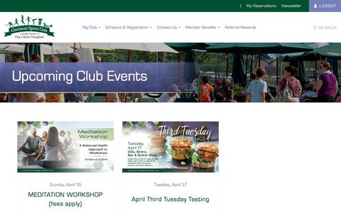 Screenshot of Login Page cincinnatisportsclub.com - My Club - captured April 16, 2018
