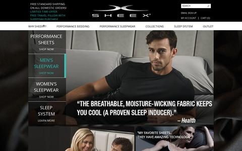 Screenshot of Home Page sheex.com - SHEEX®  Official Store - captured July 12, 2014