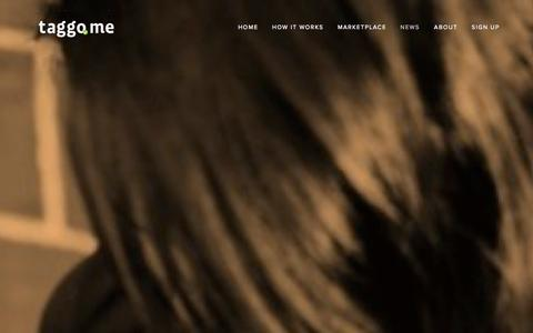 Screenshot of Press Page taggo.me - News — Fan Clubs by Taggo - captured Sept. 12, 2014