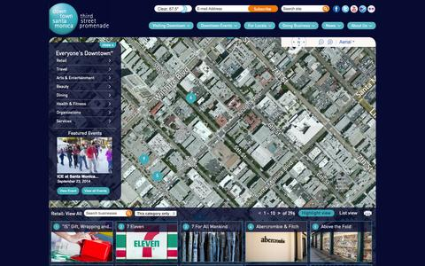 Screenshot of Maps & Directions Page downtownsm.com - Downtown Santa Monica - captured Sept. 25, 2014