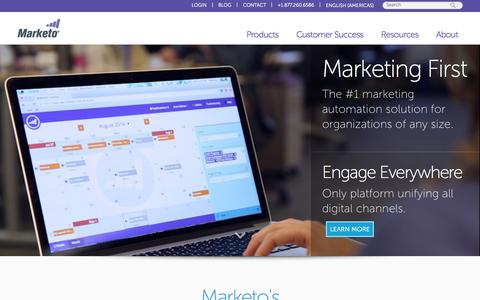 Screenshot of Home Page marketo.com - Marketo: Best-in-Class Marketing Automation Software - captured Sept. 30, 2015